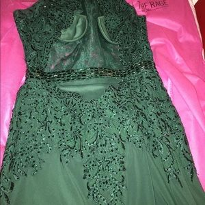 Emerald Green Prom Dress / Evening Gown